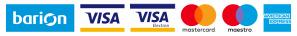 A kényelmes és biztonságos online fizetést a Barion Paymnet Zrt. biztosítja. MNB engedély száma: H-EN-I-1064/2013 Bankkártya adatai áruházunkhoz nem jutnak el.
