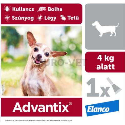 Advantix spot on 4 kg alatti kutyáknak A.U.V.