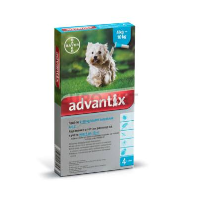 Advantix spot on 4-10 kg közötti kutyáknak A.U.V.