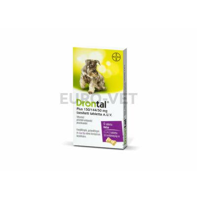 Drontal Plus 150/144/50 mg ízesített tabletta A.U.V. (6 tabletta)