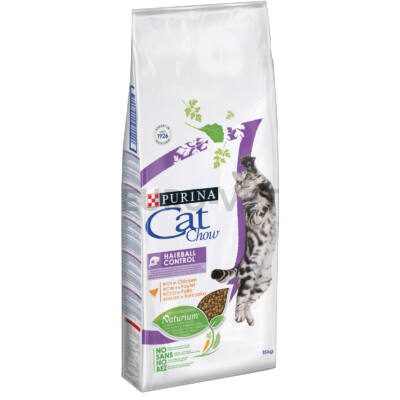 CAT CHOW Hairball Control Pulykában gazdag száraz macskaeledel 15kg