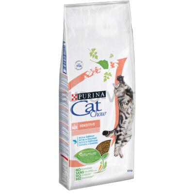 CAT CHOW Sensitive Lazacban gazdag száraz macskaeledel 15kg