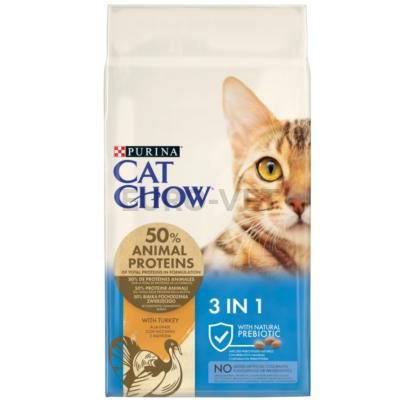 CAT CHOW Feline 3IN1 15 kg