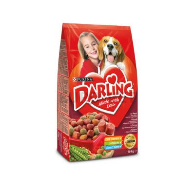 DARLING Marhával és hozzáadott, válogatott zöldségekkel száraz kutyaeledel 10kg
