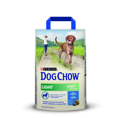 DOG CHOW Adult Light Pulykával 2,5 kg
