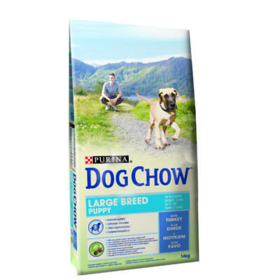 DOG CHOW Puppy Large Breed Pulykával 14 kg
