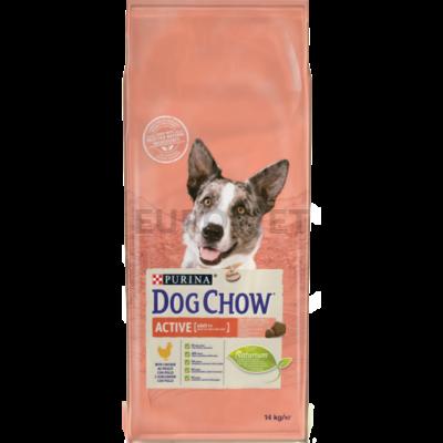 DOG CHOW Adult Active Csirkével 14 kg