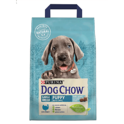 DOG CHOW Puppy Large Breed Pulykával 2,5 kg