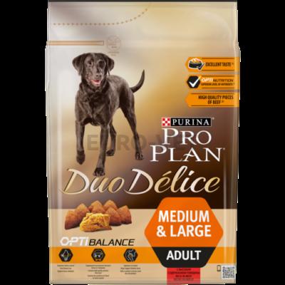 PRO PLAN Medium & Large Adult OPTIBALANCE DUO DÉLICE marhában gazdag száraz kutyaeledel 2.5 kg