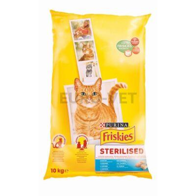 FRISKIES Steril Lazaccal és zöldségekkel száraz macskaeledel 10kg