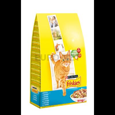 FRISKIES Lazaccal és hozzáadott zöldségekkel száraz macskaeledel 10kg