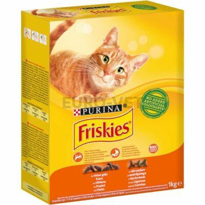 FRISKIES Csirkével és hozzáadott zöldségekkel száraz macskaeledel 1 kg
