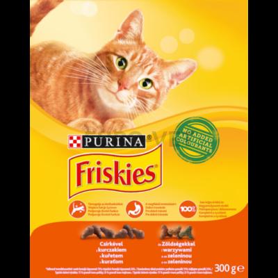 FRISKIES Csirkével és hozzáadott zöldségekkel száraz macskaeledel 300g
