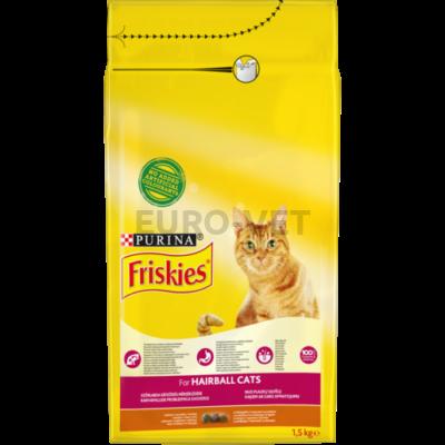 FRISKIES Hairball Formula Csirkével és hozzáadott zöldségekkel száraz macskaeledel 1,5kg