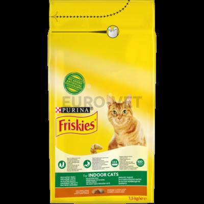 FRISKIES Indoor Csirkével és hozzáadott kerti zöldségekkel száraz macskaeledel 1,5kg