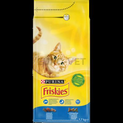 Friskies Dry Cat Lazac+zöldség 1,7 kg