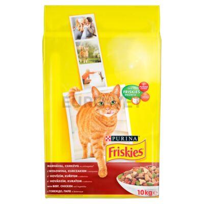 Friskies Dry Cat Marhával, csirkével és zöldségekkel 10 kg
