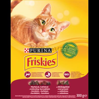 Friskies Dry Cat  Hús, csirke és zöldség 300 g