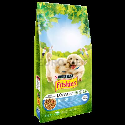 Friskies Dry Dog Junior Csirke 3 kg