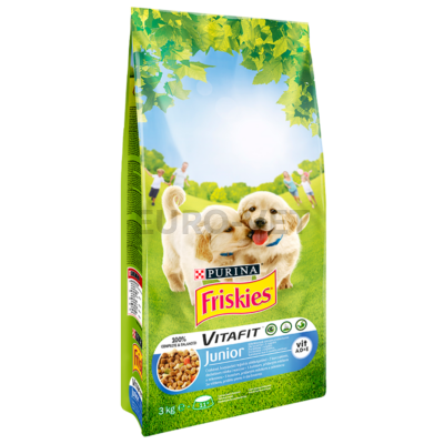 Friskies Dry Dog Junior Csirke 3 kg