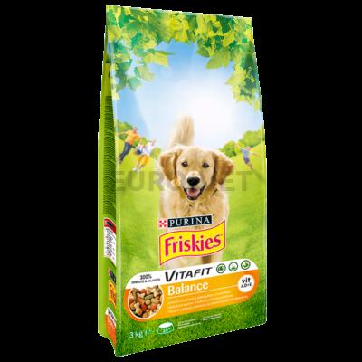 FRISKIES Balance Csirkével és zöldségekkel száraz kutyaeledel 3kg