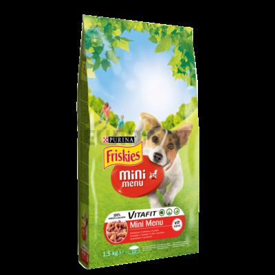 Friskies Dry Dog Mini menü hús+zöldség 1,5 kg