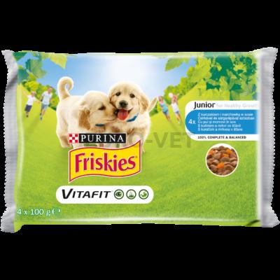 Friskies Junior Szószos válogatás nedves kutyaeledel 4x100g