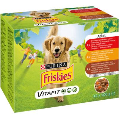 Friskies Adult WD Multipack 12x100 g Szószos válogatás