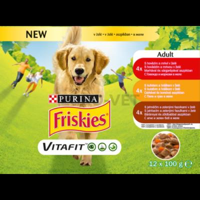 FRISKIES Aszpikos válogatás nedves kutyaeledel 12x100g