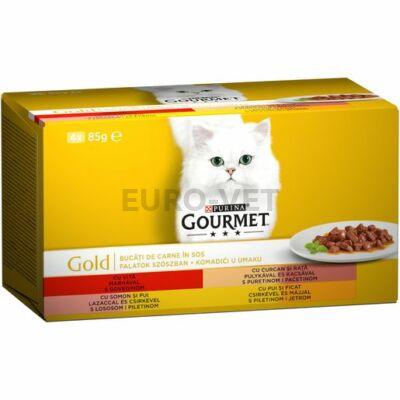 Gourmet Gold multipack - Falatok szószban 4x85g