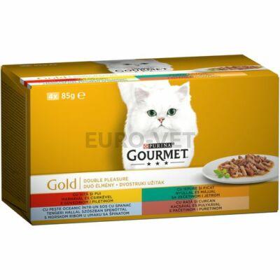 GOURMET GOLD Duó élmény nedves macskaeledel 4x85g