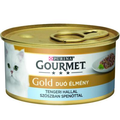 Gourmet Gold Tengeri hallal, spenótos szószban 85 g duó élmény