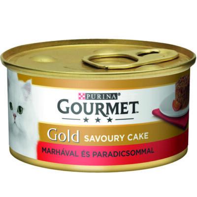 GOURMET GOLD Savoury Cake Marhahússal és paradicsommal 85g