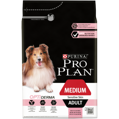 Pro Plan Medium Adult Sensitive Skin OPTIDERMA 3 kg