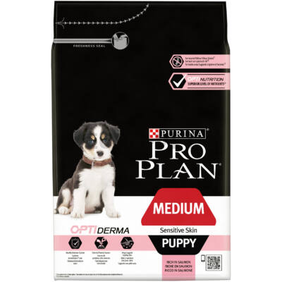 Pro Plan Medium Puppy Sensitive Skin OPTIDERMA 3 kg