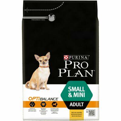 PRO PLAN Small & Mini Adult OPTIBALANCE csirkében gazdag száraz kutyaeledel 3kg