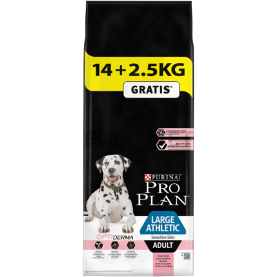 Pro Plan Large Adult Athletic Sensitive Skin OPTIDERMA 14+2,5 kg