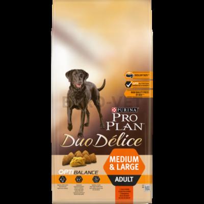PRO PLAN Medium & Large Adult OPTIBALANCE DUO DÉLICE marhában gazdag száraz kutyaeledel 10kg