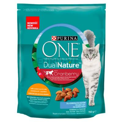 ONE Dual Nature Adult Csirkével és áfonyával száraz macskaeledel 750 g