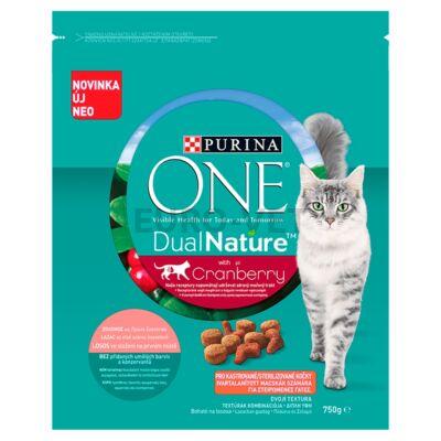 ONE Dual Nature Steril Lazaccal és áfonyával száraz macskaeledel 750 g