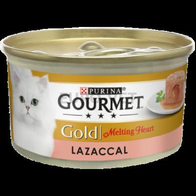 GOURMET GOLD Melting heart lazaccal nedves macskaeledel 85 g