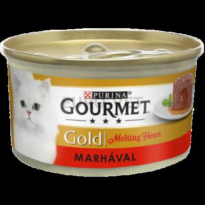 GOURMET GOLD Melting heart marhával nedves macskaeledel 85 g
