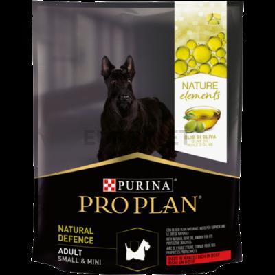 PRO PLAN Nature Elements Small & Mini Adult Defense marhában gazdag száraz kutyaeledel 700 g