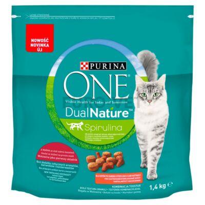 ONE Dual Nature Steril Marha - marhás szárazeledel ivartalanított macskák számára 1,4kg