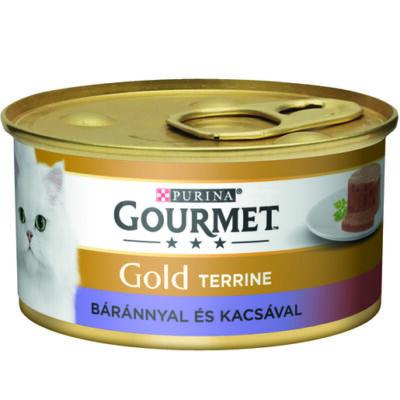 GOURMET GOLD Báránnyal és kacsával terrine nedves macskaeledel 85g