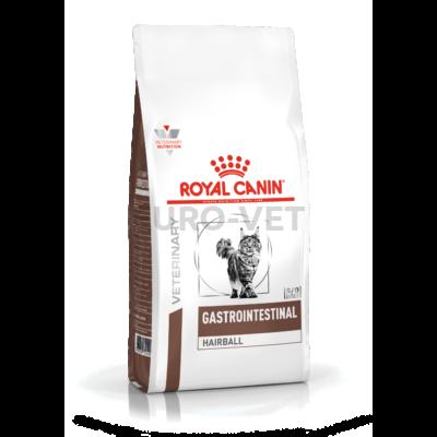 ROYAL CANIN GASTRO INTESTINAL HAIRBALL- száraz gyógytáp felnőtt macskák részére szőrlabda képződés esetén 0,4 kg