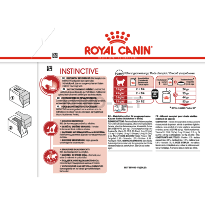 ROYAL CANIN INSTINCTIVE GRAVY - felnőtt macska szószos nedves táp 0,085 kg