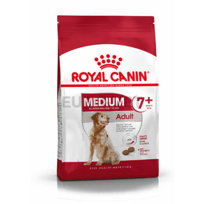 ROYAL CANIN MEDIUM ADULT 7+ - közepes testű idősödő kutya száraz táp 15 kg
