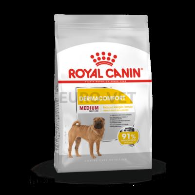 ROYAL CANIN MEDIUM DERMACOMFORT - száraz táp bőrirritációra hajlamos, közepes testű felnőtt kutyák részére 10kg