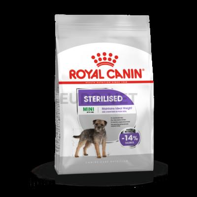 ROYAL CANIN MINI STERILISED - száraz táp ivartalanított, kistestű felnőtt kutyák részére 8 kg